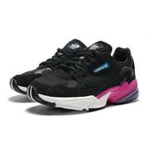 ADIDAS ORIGINALS FALCON 黑麂皮網布 紫 老爹鞋  休閒鞋 女 (布魯克林) 2019/05月 CG6219
