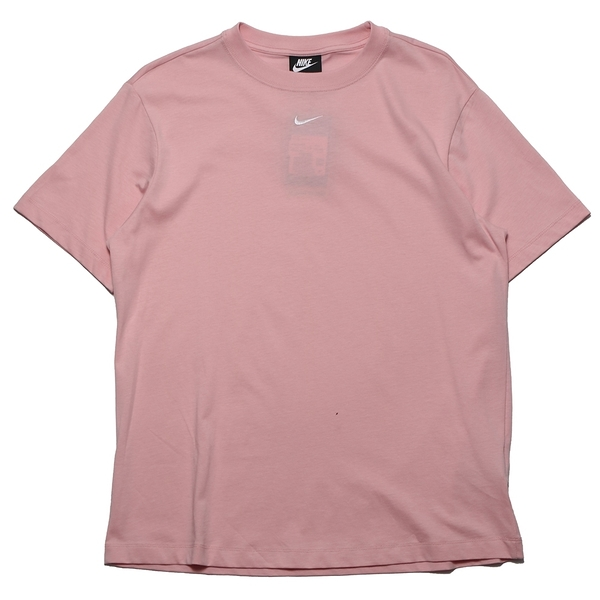 NIKE 短T NSW 粉紅 馬卡龍 刺繡小LOGO 寬鬆 短T 素T 女 (布魯克林) DH4256-631