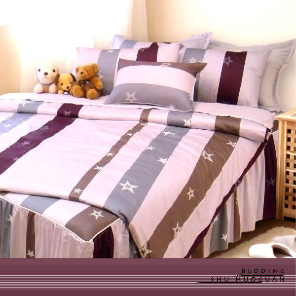 YuDo優多【星空物語-粉】精梳棉雙人薄床包三件式-台灣精製