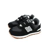 New Balance 574系列 休閒運動鞋 魔鬼氈 黑色 童鞋 YV574SPT-W no716