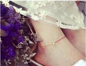 新款夏季細紅繩單?包18k金色腳?女極簡百搭腳繩 居享優品