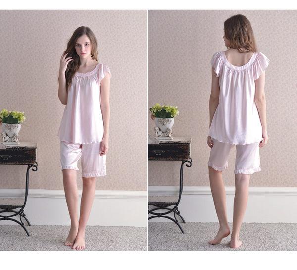 夏季新品純棉睡衣女甜美家居服全棉休閒夏天薄款套裝 -swe0020
