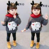 兒童衛衣女寶寶秋冬季新款韓版女童加厚3周歲嬰幼兒小女孩毛衣潮 CY潮流站