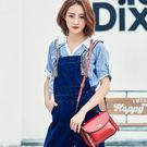 新款潮2018包包女復古柳釘單肩包時尚手提斜背女包牛皮小方包H112/8P3071