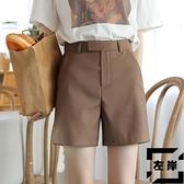 高腰西裝短褲女直筒寬鬆四分褲顯痩熱褲休閒夏【左岸男裝】