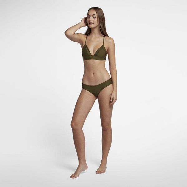 Hurley QUICK DRY HIPSTER SURF BOTTOM 比基尼褲-綠(女)