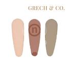 丹麥 Grech&Co. 髮夾三入組 淡粉&緋紅&卡其