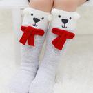 童襪 寶寶襪 珊瑚絨立體卡通中筒襪 嬰兒...