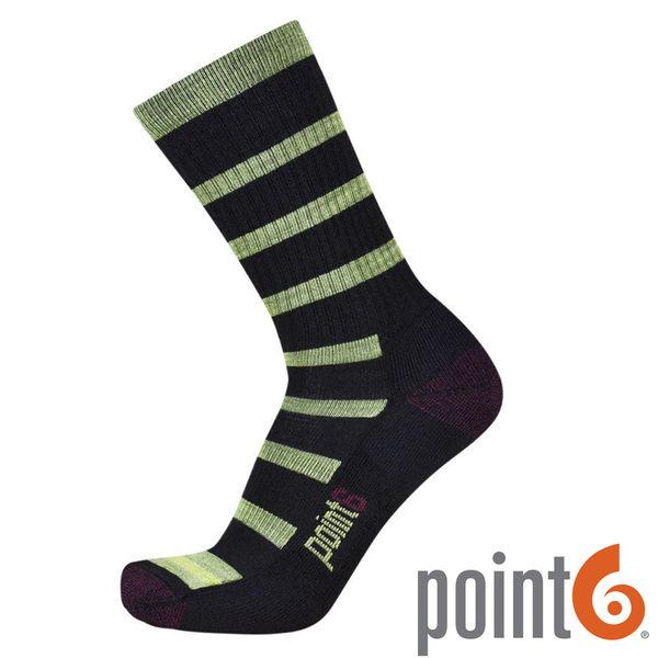【POINT 6 美國】firecracker light 健行輕量中筒羊毛襪 『黑/綠』22611729 露營|休閒|保暖襪|羊毛