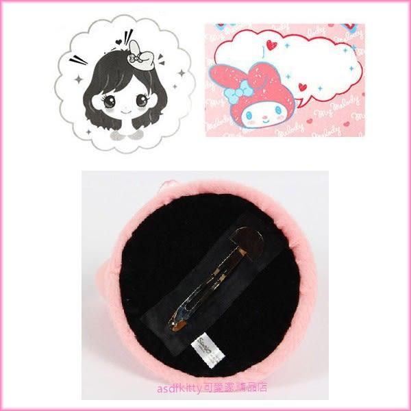 asdfkitty可愛家☆美樂蒂兔耳朵髮夾/小禮帽-萬聖節造型變裝-日本正版商品