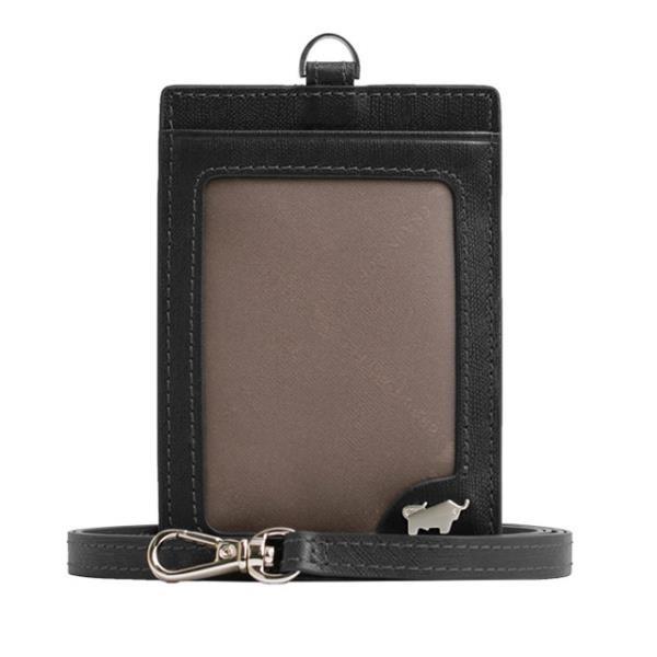 【南紡購物中心】【BRAUN BUFFEL】HOMME-M系列壓紋證件套 -黯黑 BF306-600-BK