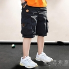 童裝男童短褲夏季外穿2021年新款中大兒童男孩休閒中褲工裝七分褲 小時光生活館