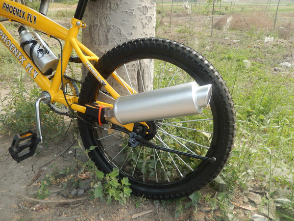 現貨 自行車排氣管 腳踏車排氣管 聲浪製造 渦輪重機聲 安全改裝 Turbospoke同款 摩托車排氣聲