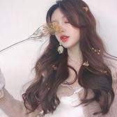 現貨-假髮 lolita女中分長卷髮大波浪蓬松自然逼真全頭套網紅女主播長髮10-24