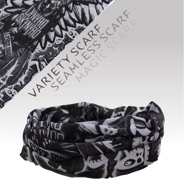 速乾 吸濕排汗材質 自行車頭巾/魔術頭巾/個性頭巾(1515-1 搖滾骷髏)【戶外趣】