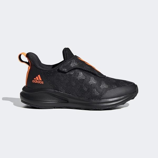 Adidas Fortarun Tango Ac K [FV3312] 中童鞋 運動 休閒 慢跑 魔鬼氈 愛迪達 黑