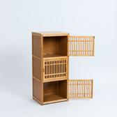 竹韻美學日式直式三層收納櫃-生活工場