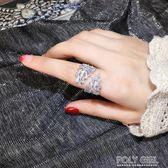 戒指 歐美誇張個性食指戒指女日韓百搭大氣指環潮人尾戒開口戒子時裝戒 polygirl