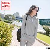 《KS0453》台灣製造~抗UV保暖磨毛抽繩字母連帽運動上衣 OrangeBear