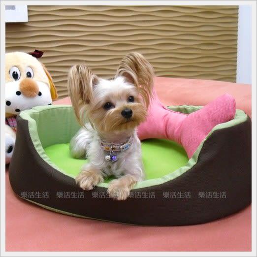 【饗樂生活】 ~寵物床碗型_奇異果~特多龍布材質【850元】台灣製造