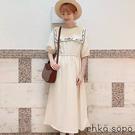 「Summer」單色花朵刺繡泡泡袖連身洋裝 (提醒 SM2僅單一尺寸) - Sm2