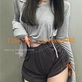 高腰顯瘦休閒直筒短褲子女夏季寬鬆闊腿褲工裝熱褲【橘社小鎮】