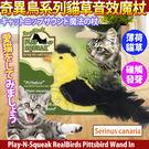 【 培菓平價寵物網 】美國Play-N-Squeak狂野森林》奇異鳥系列貓草音效魔杖-黃絲雀