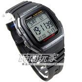 CASIO卡西歐W-96H-1B電子錶 方形 黑色橡膠 時間玩家 日期 計時碼表 男錶 運動錶 中性錶  34mm W-96H-1BVDF