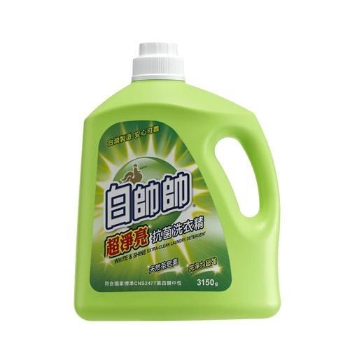 白帥帥超淨亮抗菌低泡沫洗衣精3150g【愛買】
