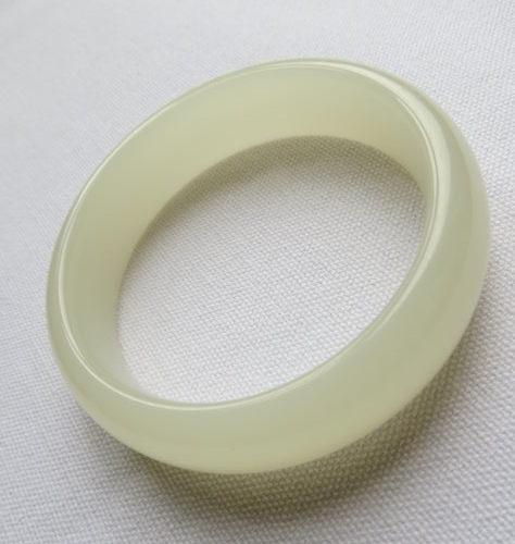 青白玉手鐲#0489 57.5mm