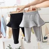 女童裙褲假兩件秋冬加絨加厚嬰兒打底褲外穿寶寶長褲小童洋氣褲子  茱莉亞