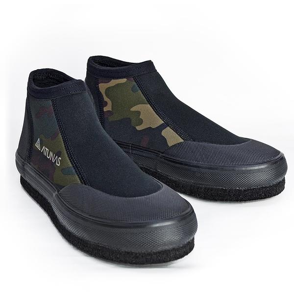 ATUNAS短筒毛氈溯溪鞋(歐都納/涉水運動鞋/浮潛/衝浪/防滑鞋/菜瓜布鞋/潛水鞋/溪釣玩水)