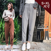 LULUS-Q前打摺斜紋西裝褲S-XL-3色  【04190232】