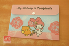 My Melody×toripicals 美樂蒂 熱帶水果鳥 B6資料袋 收納袋 粉藍 KRT-215426