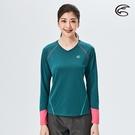 ADISI 女V領抗靜電紗長袖上衣AL2021068 (S-2XL) / 城市綠洲 (透氣保暖 排汗速乾 機能服)
