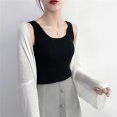 mschf小吊帶揹心女2019夏季泫雅黑色內搭針織無袖打底上衣外穿潮   依夏嚴選