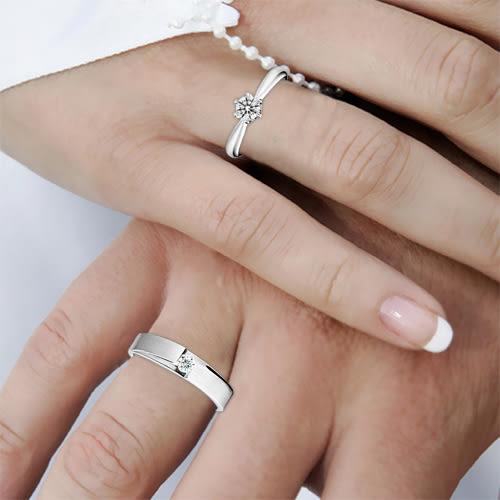 蘇菲亞SOPHIA-永恆真愛20分女戒+10分男戒鑽石對戒