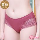 內褲 煥雅時尚雙色蕾絲小褲(磚紅)【黛瑪Daima】