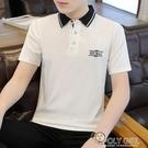 男士短袖t恤夏季2021新款韓版潮流polo衫上衣服寬鬆半袖體恤 夏季新品