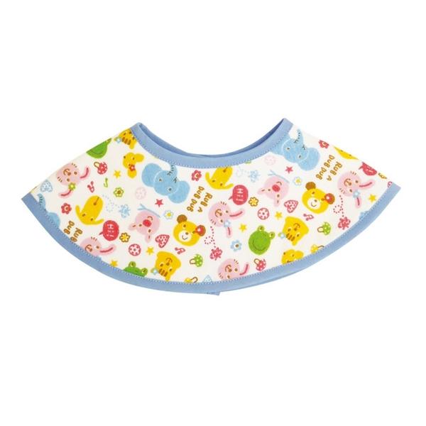 【日本製】【Rub a dub dub】幼童用 圓形寶寶圍兜兜 藍色 SD-9144 - Rubadubdub