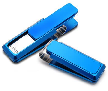 新色上市★ 美國原廠進口 時尚輕便 最佳功能設計 ★ 美國M-CLIP 鈔票夾 - 超輕型-藍色霧面