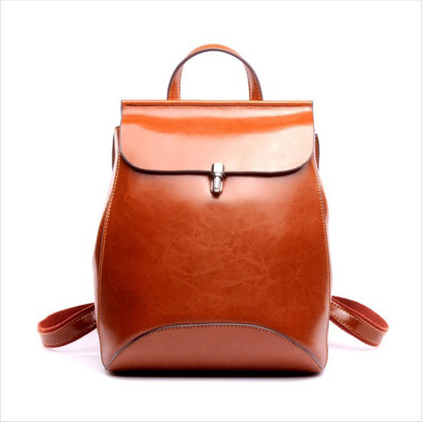 後背包-韓版真皮插釦後背包-共4色-A12121095-天藍小舖