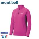 【Mont-Bell 日本 女 Wickron Zeo 長袖半門襟《紫紅》】1104941/刷毛長袖/中層衣/排汗休閒衫