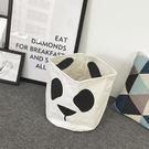 洗衣籃 收納筒 TOOKI & CO【Z432122】可愛熊貓圖案雜物置物籃/洗衣籃/玩具收納筒-Kosher