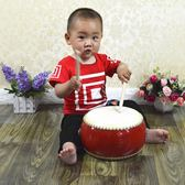 兒童木制音樂手敲鼓寶寶擊打鼓嬰兒手鼓小兔子敲打樂器益智玩具   蜜拉貝爾