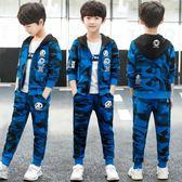 男童秋裝套裝2018新款兒童中大童秋季童裝三件套男孩運動韓版潮衣 夢曼森居家