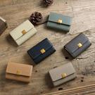 【SoLoMon原創設計皮件】質感木紋 金屬扣式零錢多收納位卡夾