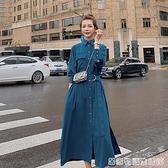 洋裝春秋新款設計感小眾裙子法式收腰顯瘦氣質襯衫仙女長裙 居家物語