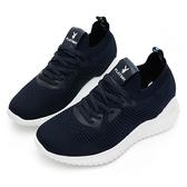 PLAYBOY 個性步伐 針織襪套內增高鞋-藍(Y5732藍)