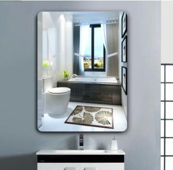 浴室壁掛歐式衛浴衛生間無框壁掛粘貼化妝鏡子HOT564【歐爸生活館】